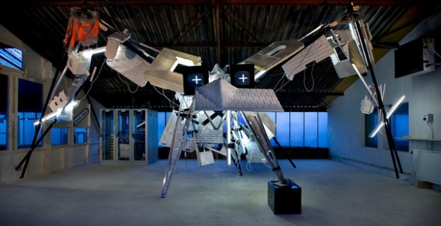 Bird, 2011, constructed from parts of earlier works,10 x 7 x 4,5 m ( LXDXH )
