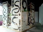 Cube structures ' A good concept is difficult to lose ' Sol LeWitt - maquette, 2009, installation of wood, 300 x 300 x 300 cm