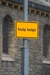 HELP HELPS, 2012, traffic signs, 60 x 40 cm ( series of 11)