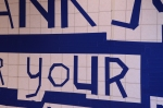 tapewriting on wall, 550 x 280 cm. solo expo Re Art Fair Rotterdam, 2013